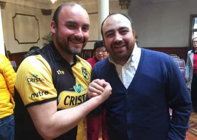Pereira junto al entonces presidente de la DC y hoy convencional Fuad Chahín. (Foto: El Observatodo)